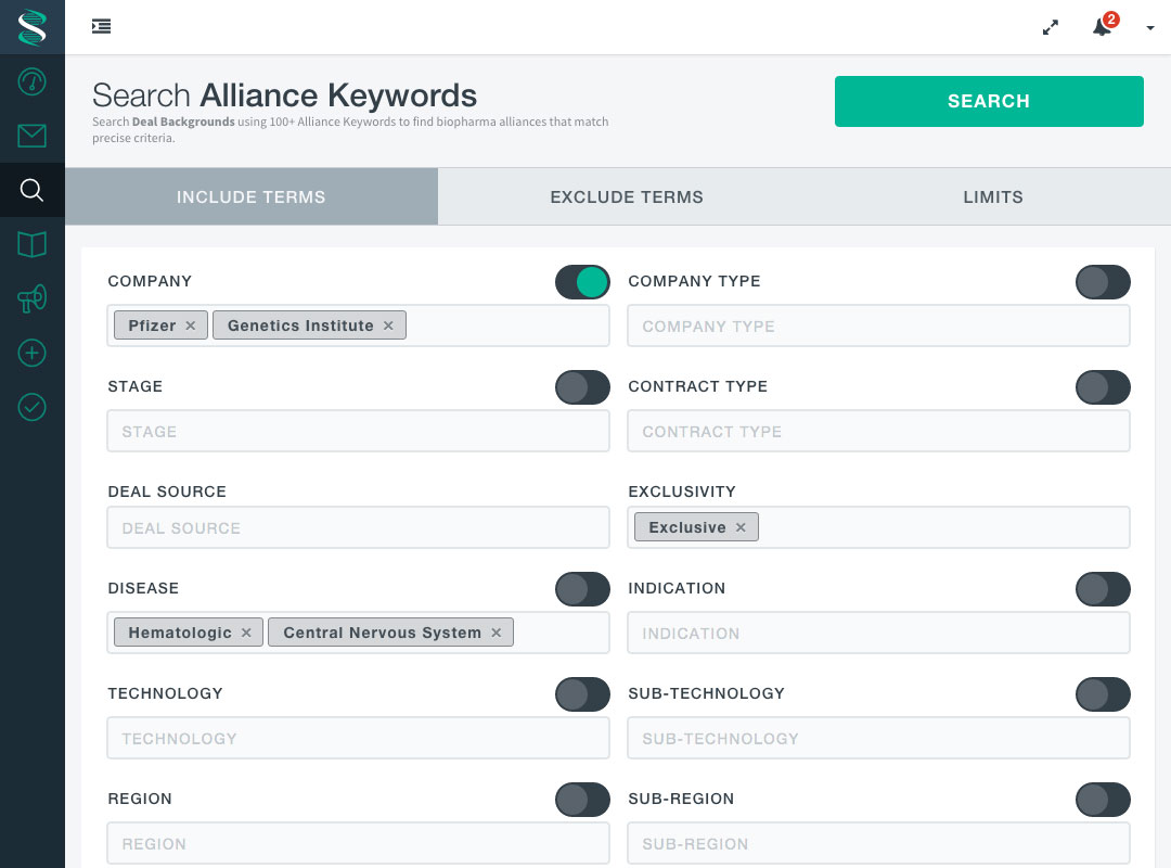 Search Alliance Keywords - BiosciDB