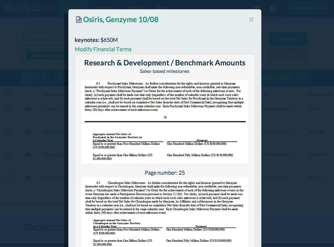 Inspect Osiris/Genzyme Alliance Provision - BiosciDB